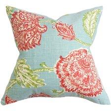 Filomena Floral Linen Throw Pillow