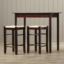 Russell 3 Piece Counter Height Dining Set