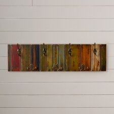 Freida Wooden Crafted Metal 4 Hook Coat Rack