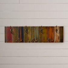 Freida Wooden Crafted Metal 7 Hook Coat Rack