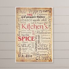 Kitchen and Spice Typography Wall Plaque