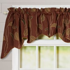 """Gwendolyn Large Scale Leaf and Vine Lined Duchess 100"""" Curtain Valance"""