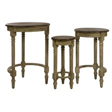 3 Piece Antique Inspired Nesting Tables