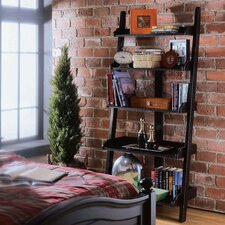 "Lombardy 76"" Leaning Bookcase"