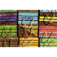 Wooden Crate Image Graphic Art on Canvas