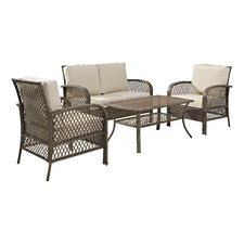 Tribeca 4 Piece Deep Seating Group with Cushions