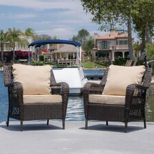 Rosalia Outdoor 2 Piece Deep Seating Group with Cushion Set with Cushion (Set of 2)