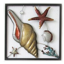 Conch Square Panel Wall Art