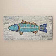 'Funky Fish 2' Wall Art by Suzanne Nicoll Painting Print Plaque