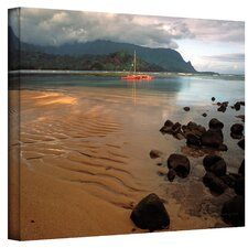 """Hanalei Bay at Dawn"" by Kathy Yates Photographic Print on Canvas"