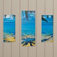 Palm Tree Shadows 3 Piece Wall Plaque Set
