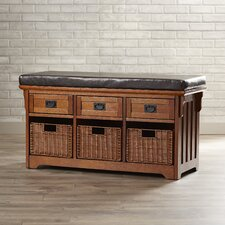 Hemlock Wooden Entryway Storage Bench