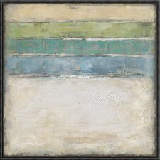 Aquamarine Framed Painting Print on Canvas