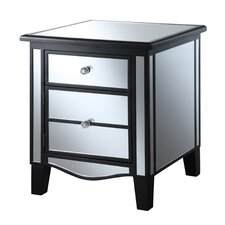 Designs2Go Mirrored End Table