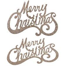 2 Piece Christmas Hanging Sign Set