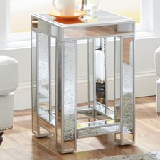 Moonstone Mirrored Side Table