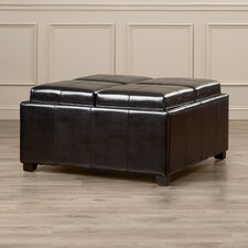 Seyfried Upholstered Leather Cube Storage Ottoman
