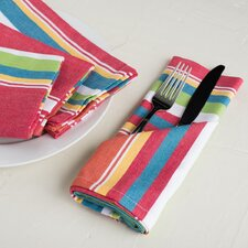 Sunset-Striped Cotton Napkin (Set of 4)