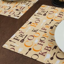 Chef Print Placemat (Set of 4)
