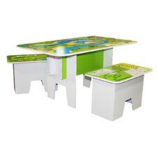 Kids Road Top Play 3 Piece Multi Game Table Set