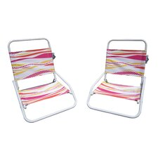 Foldable Sun and Sand Chair (Set of 2)
