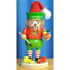 Steinbach Signed Gnome Twinkle the Elf with Toy German Wood Christmas Nutcracker