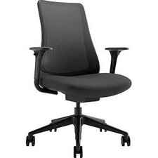 Task Seating Mid Back Mesh Chair with Adjustable Arms