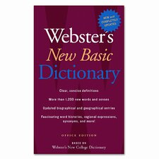 Webster's New Basic Dictionary, Paperback, 896 Pages