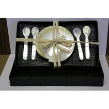 Mother of Pearl 5 Piece Caviar Dinnerware Set