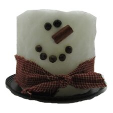 Snowman White Electric Candle