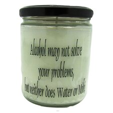 Alcohol May Not Solve Your Problems, But Neither Does Water or Milk Vanilla Jar