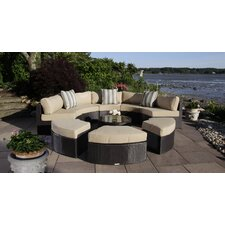 Santorini 5 Piece Daybed Set with Cushions