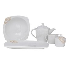 Bloomfield Square Fine China Traditional Serving 5 Piece Dinnerware Set