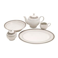 Diamond Fine China Traditional Serving 5 Piece Dinnerware Set
