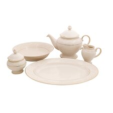 Palace Ivory China Traditional Serving 5 Piece Dinnerware Set