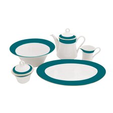 Valley Fine China Traditional Serving 5 Piece Dinnerware Set