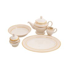 Isabella Ivory China Traditional Serving 5 Piece Dinnerware Set