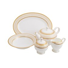 Absinthe Bone China Traditional Serving 5 Piece Dinnerware Set