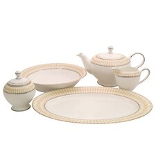 Superior Bone China Traditional Serving 5 Piece Dinnerware Set
