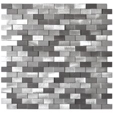 Aluminum Mosaic Tile in Grey