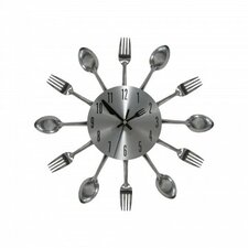 """12"""" Cutlery Kitchen Clock with Flatware Frame"""