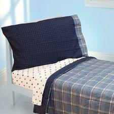 Westport Blue Plaid 4 Piece Toddler Bedding Set