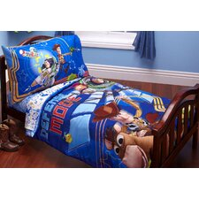 Toy Story Buzz Woody Defense Mode 4 Piece Toddler Bedding Set