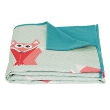 Geo Forest Cotton Fleece Blanket