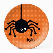 "Spooky Spider 10"" Personalized Plate (Set of 4)"