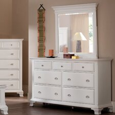 Laveno 7 Drawer Dresser with Mirror
