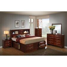 Emily Storage Panel 5 Piece Bedroom Set