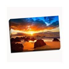 Hawaiian Sunset Beach Photographic Print on Wrapped Canvas