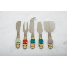5 Piece Handcrafted Cheese Serving Set