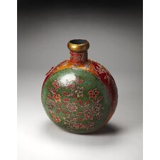 Hors D'oeuvres Mehndi Painted Iron Floor Vase